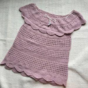 Vintage crochet tunic